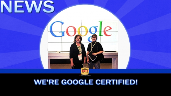 We're Google Certified